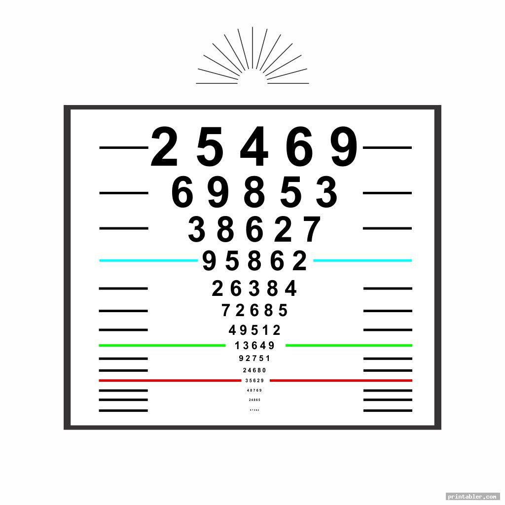 Pediatric Eye Chart Printable