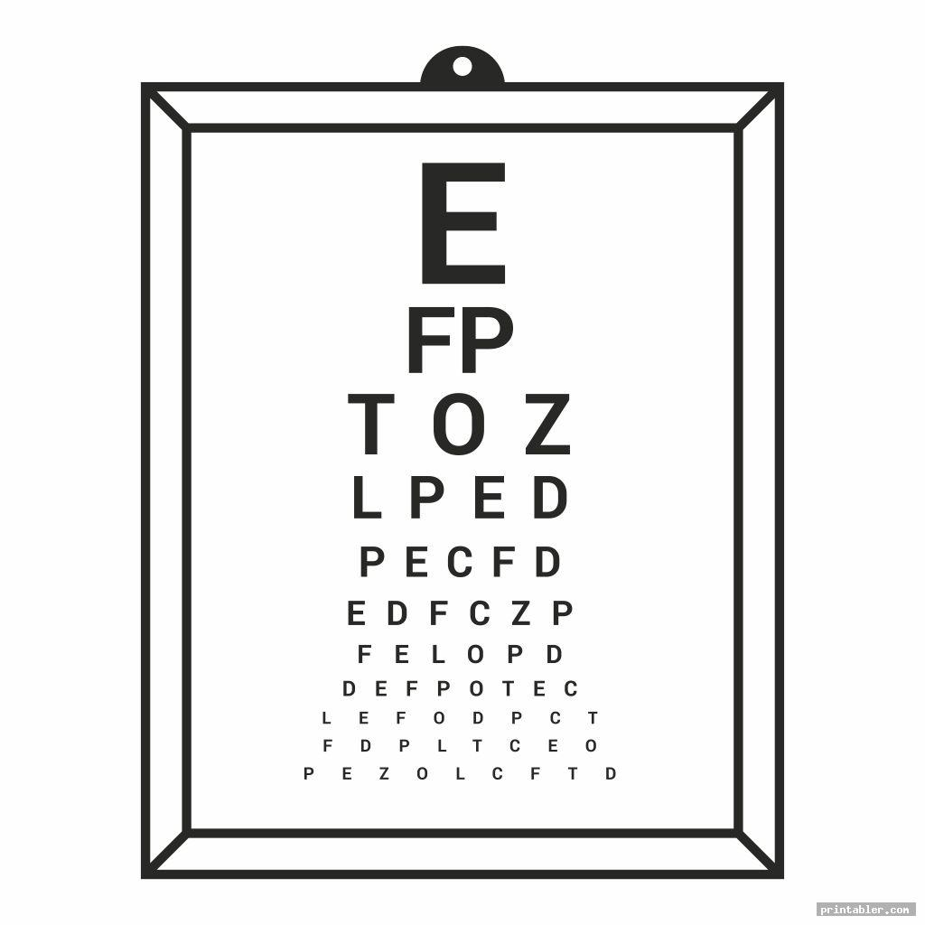 photograph regarding Eye Chart Printable referred to as Pediatric Eye Chart Printable -