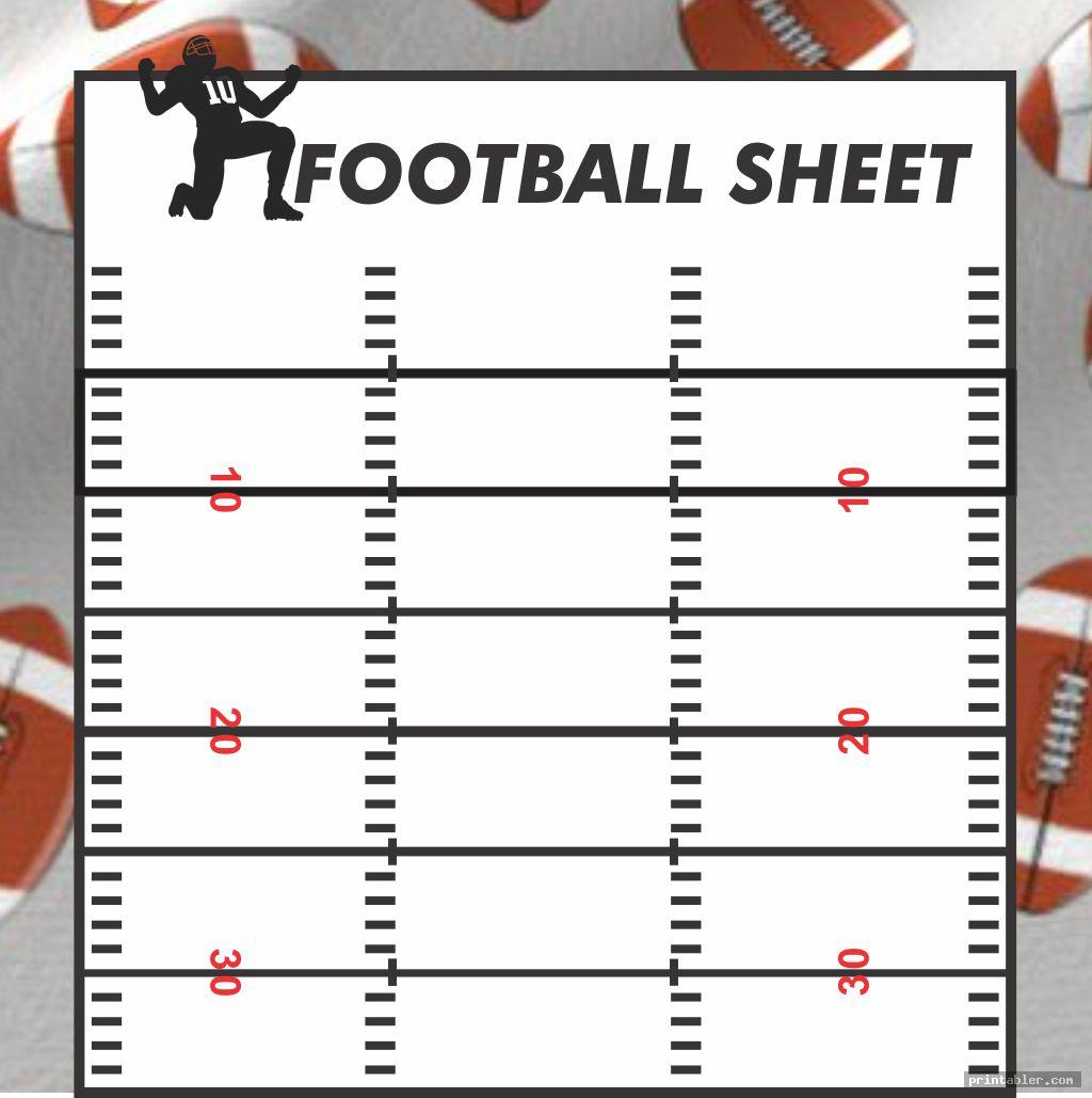 printable blank football playbook sheets