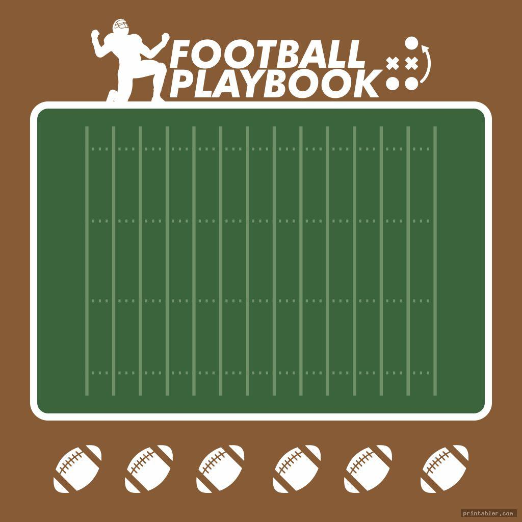 photograph relating to Free Printable Football Templates identified as Blank Soccer Playbook Sheets Printable -
