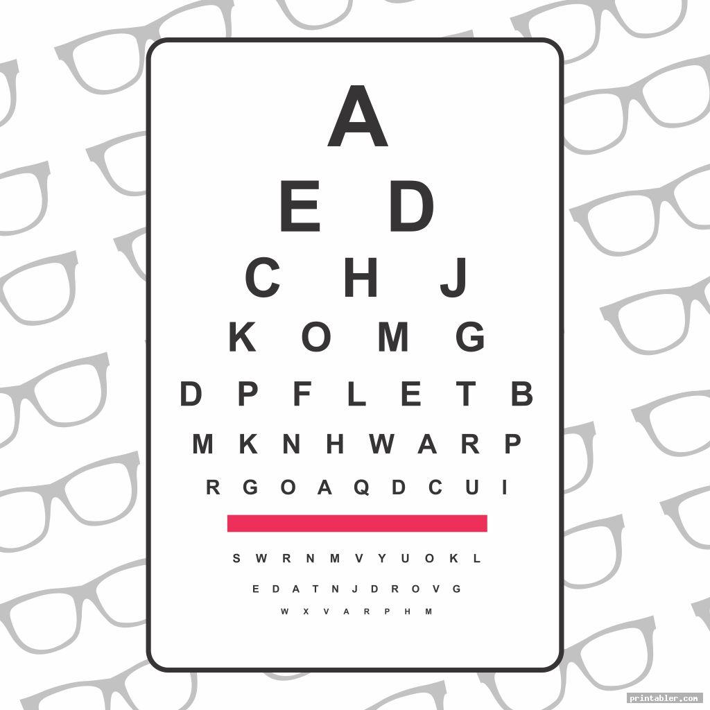It's just an image of Effortless Pediatric Eye Chart Printable