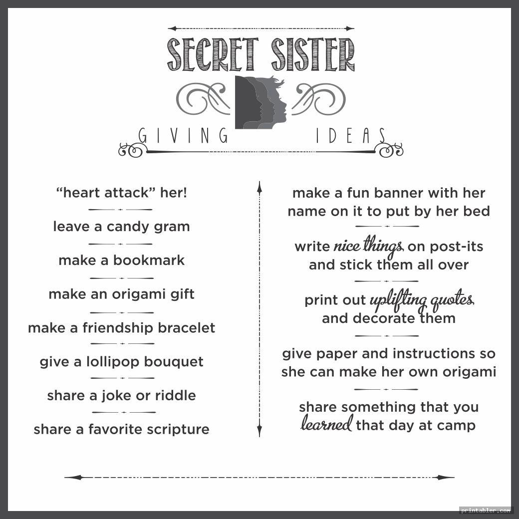 printable secret sister forms template