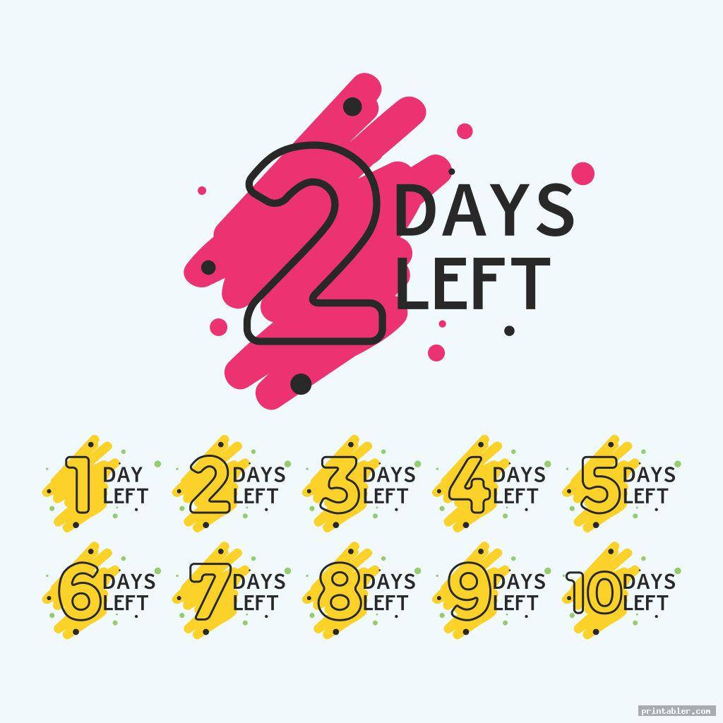printable tear off countdown calendar