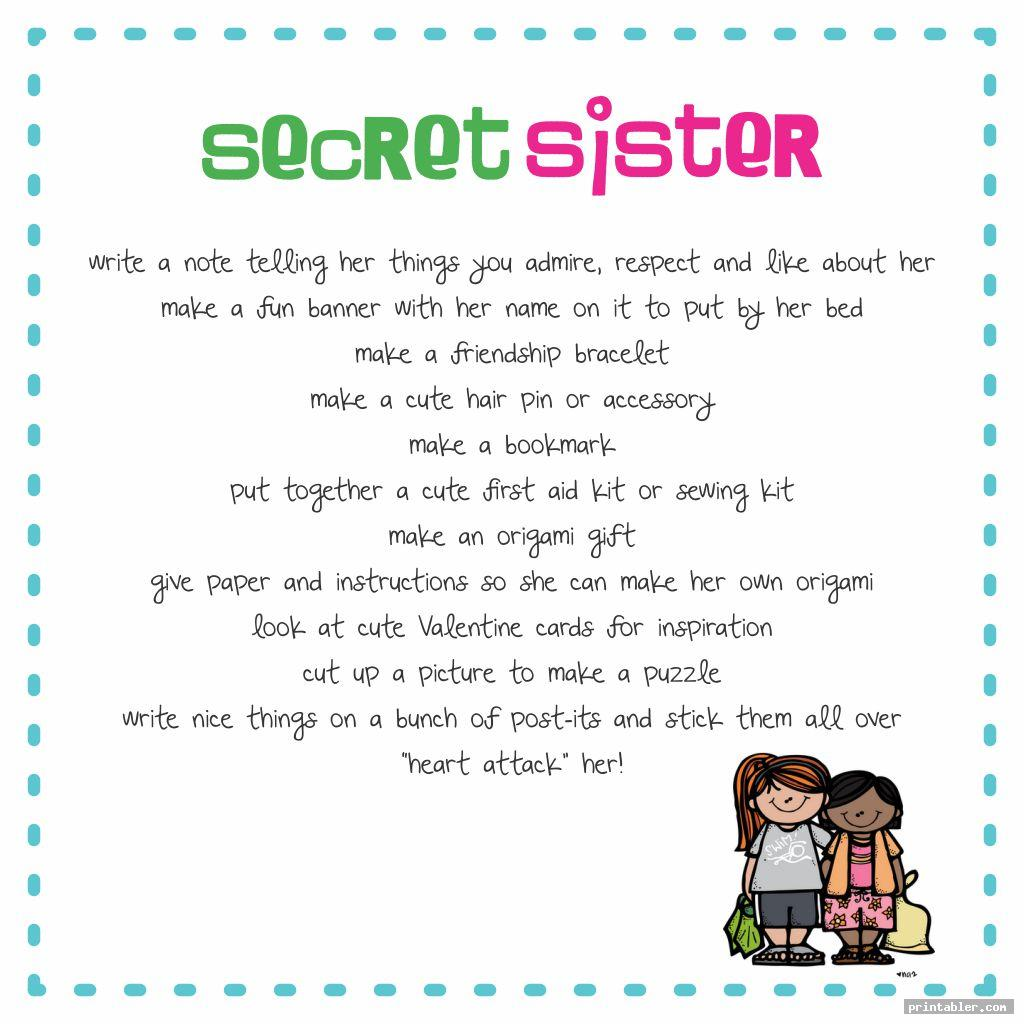 secret sister forms printable image free