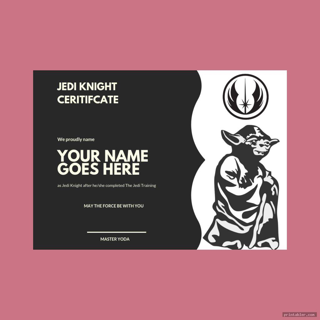 star wars jedi certificate template printable image free