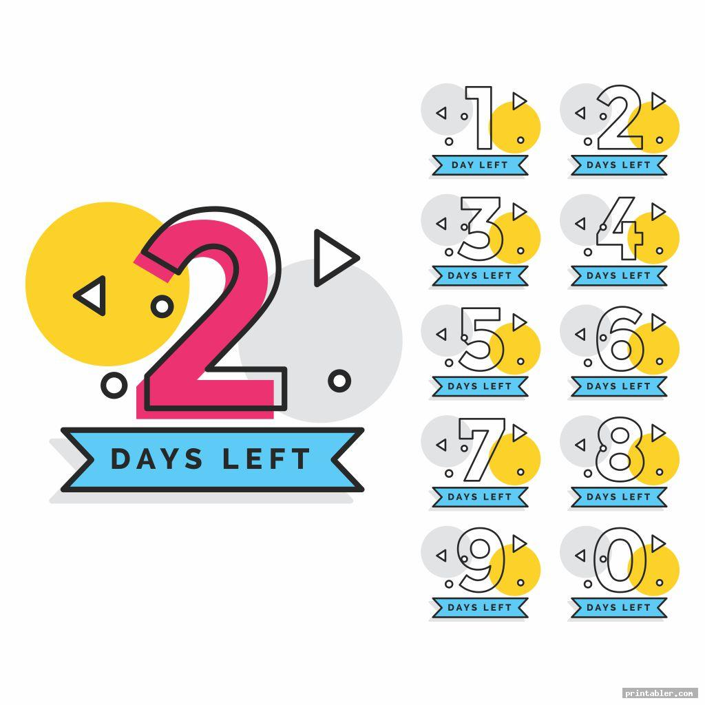 tear off countdown calendar printable image free