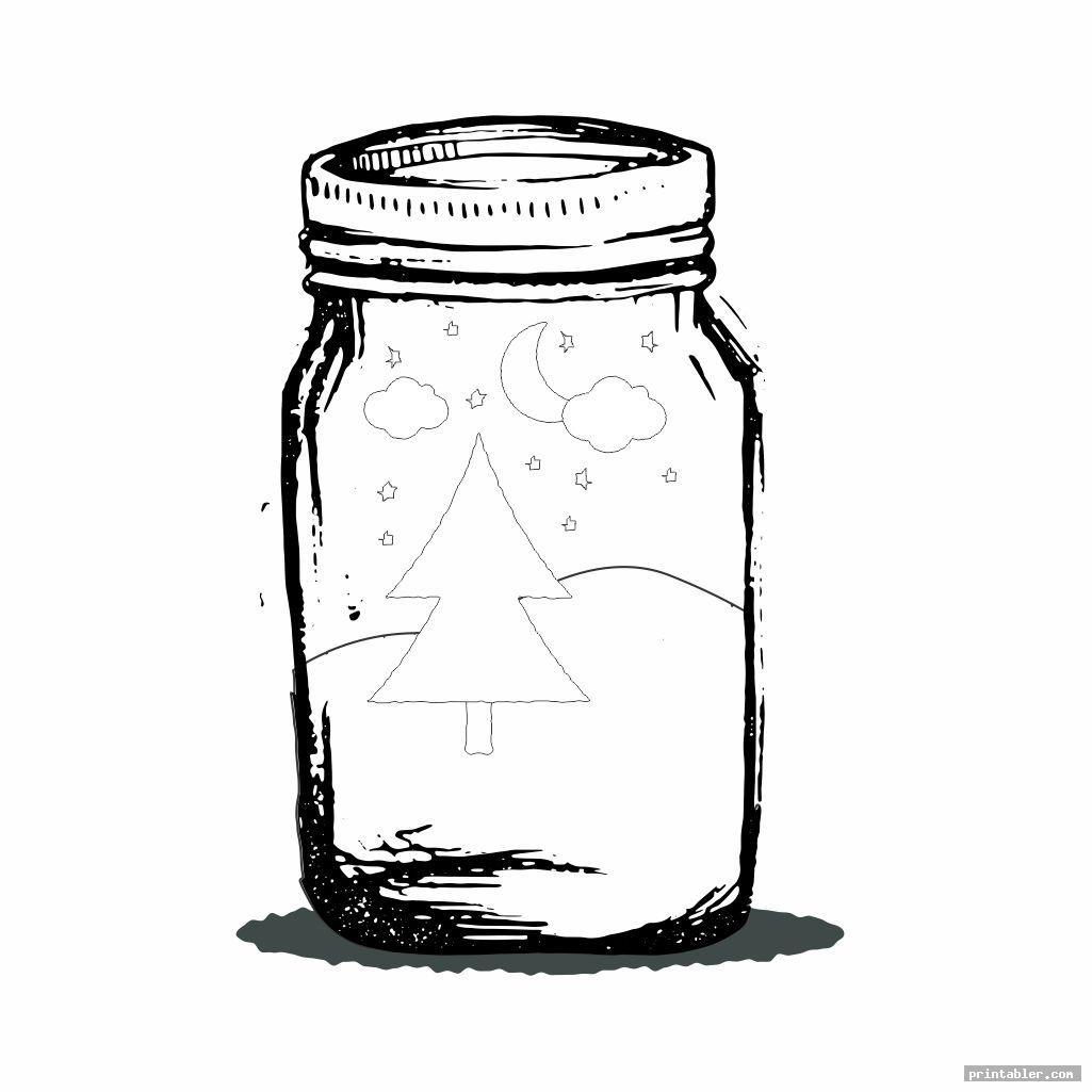 abstract bug jar coloring page printable