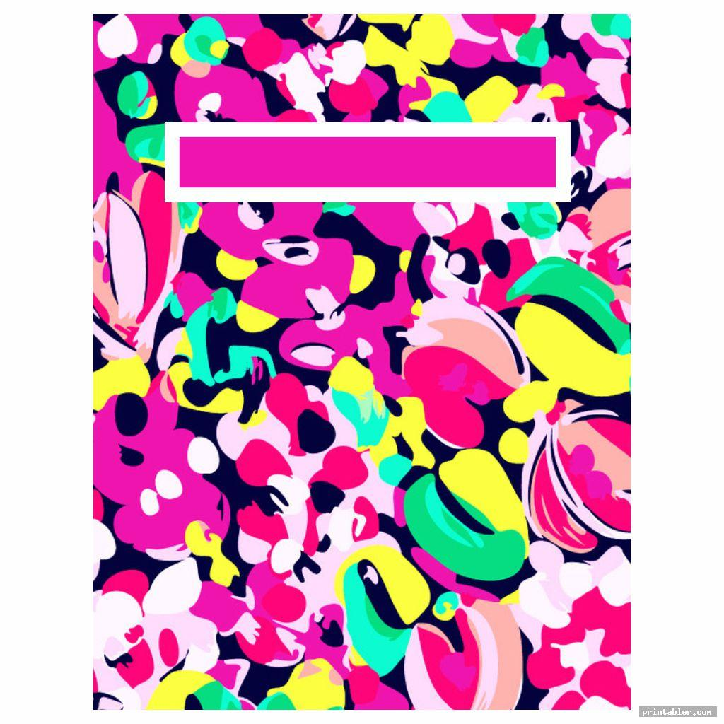 abstract lilly pulitzer binder cover templates printable