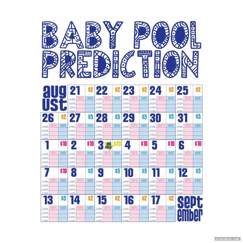 baby pool template printable for kids