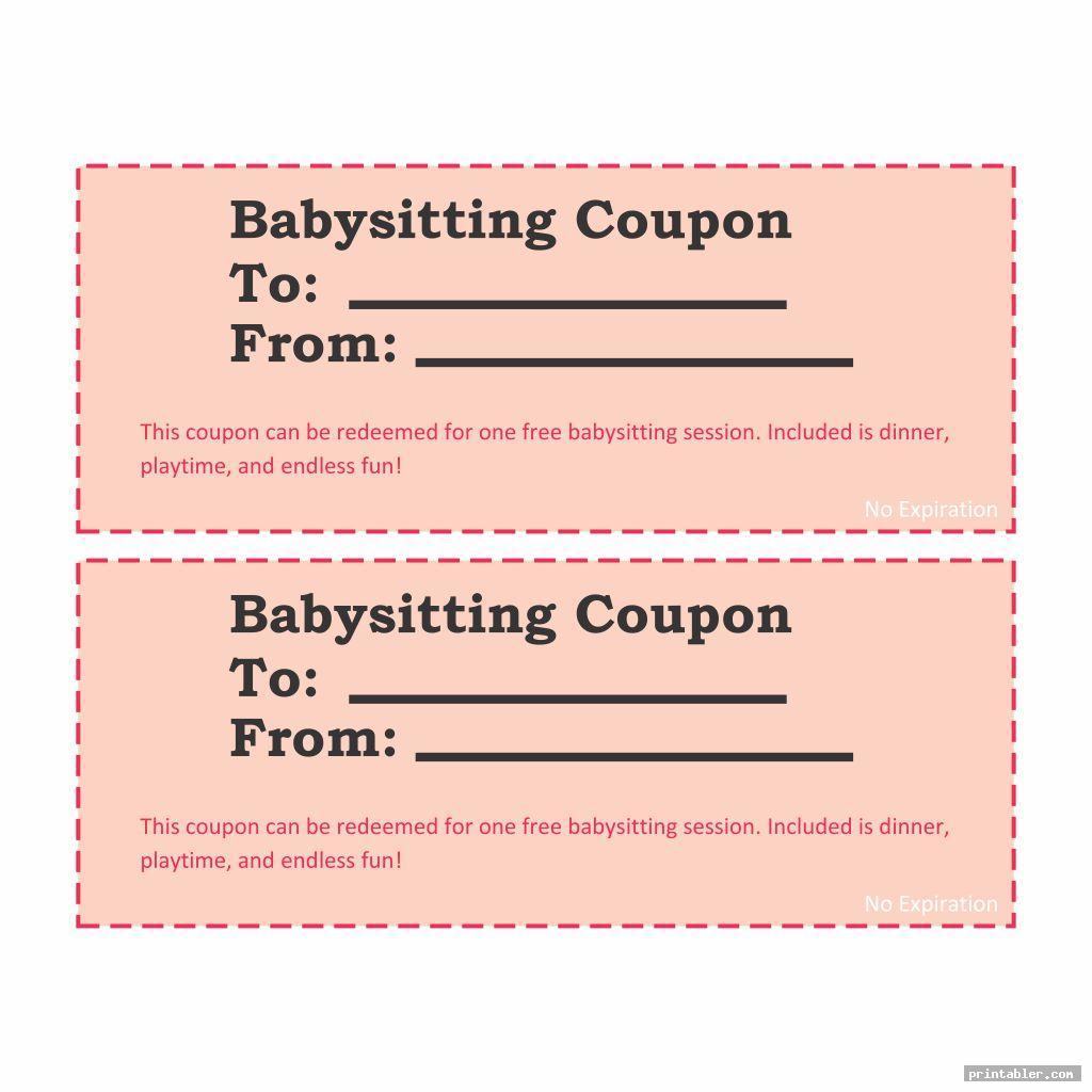 babysitting coupons printable image free