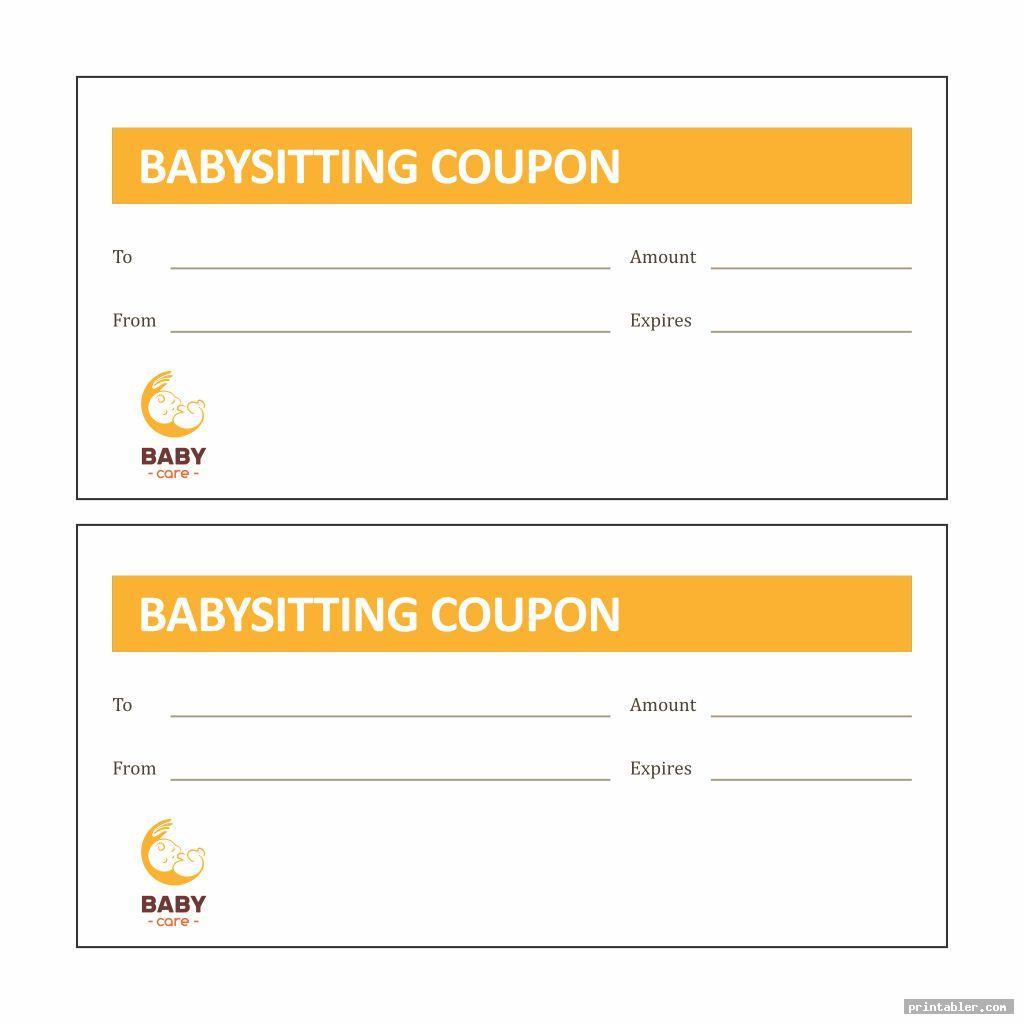 babysitting voucher template image free