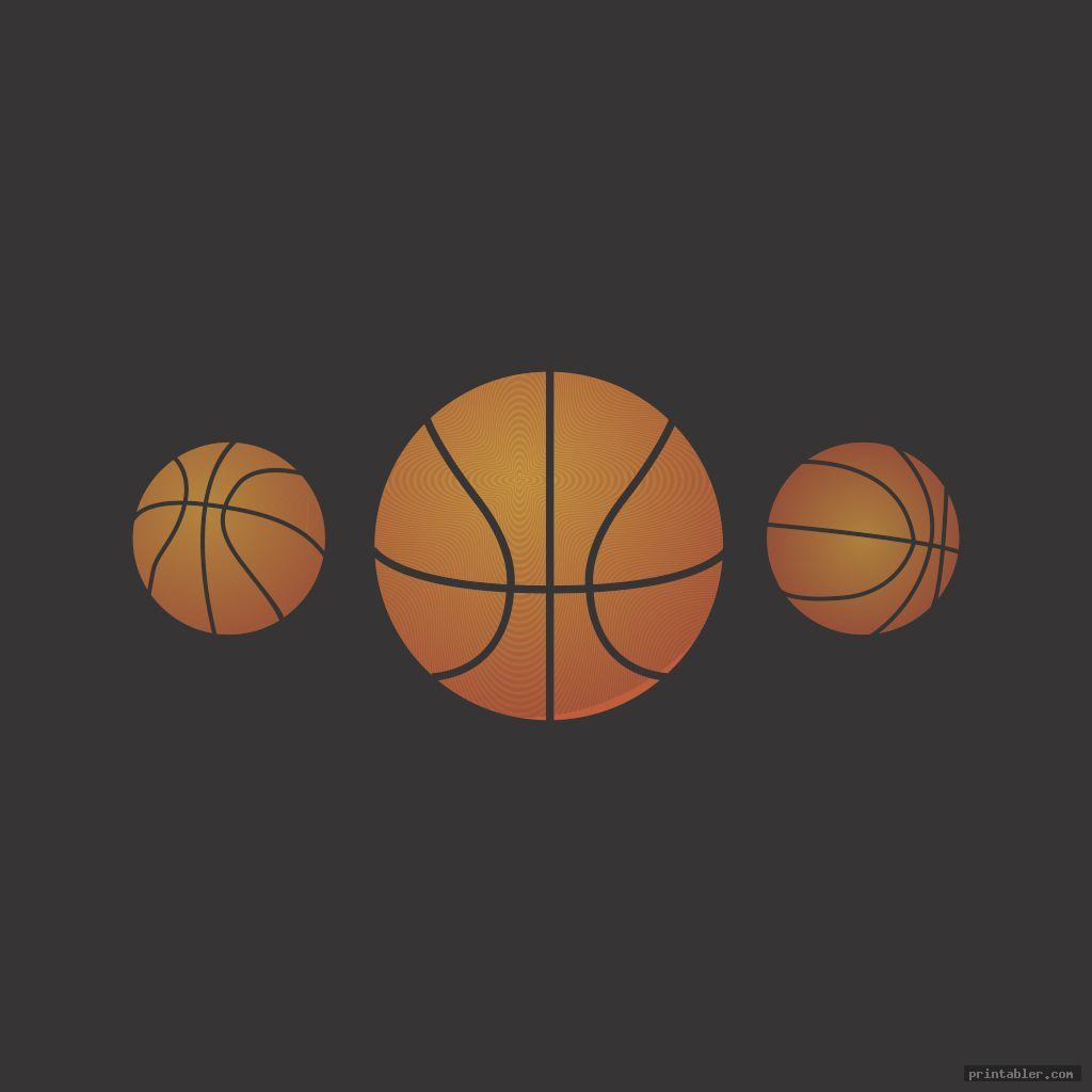 photograph about Basketball Clipart Free Printable named Basketball Clipart Printable -