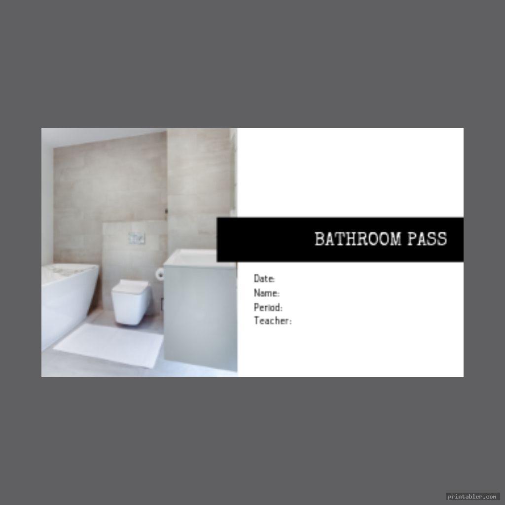 bathroom passes template printable image free