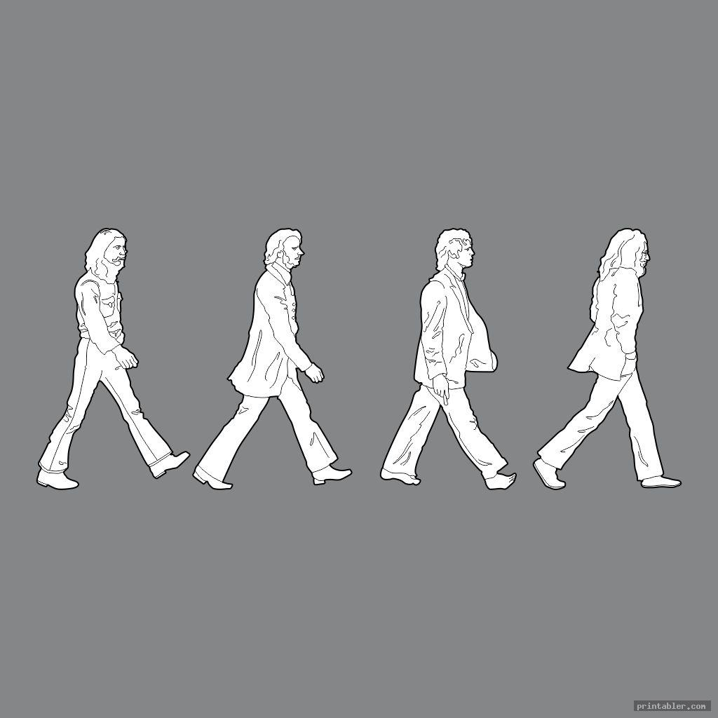 beatles people cutouts printable