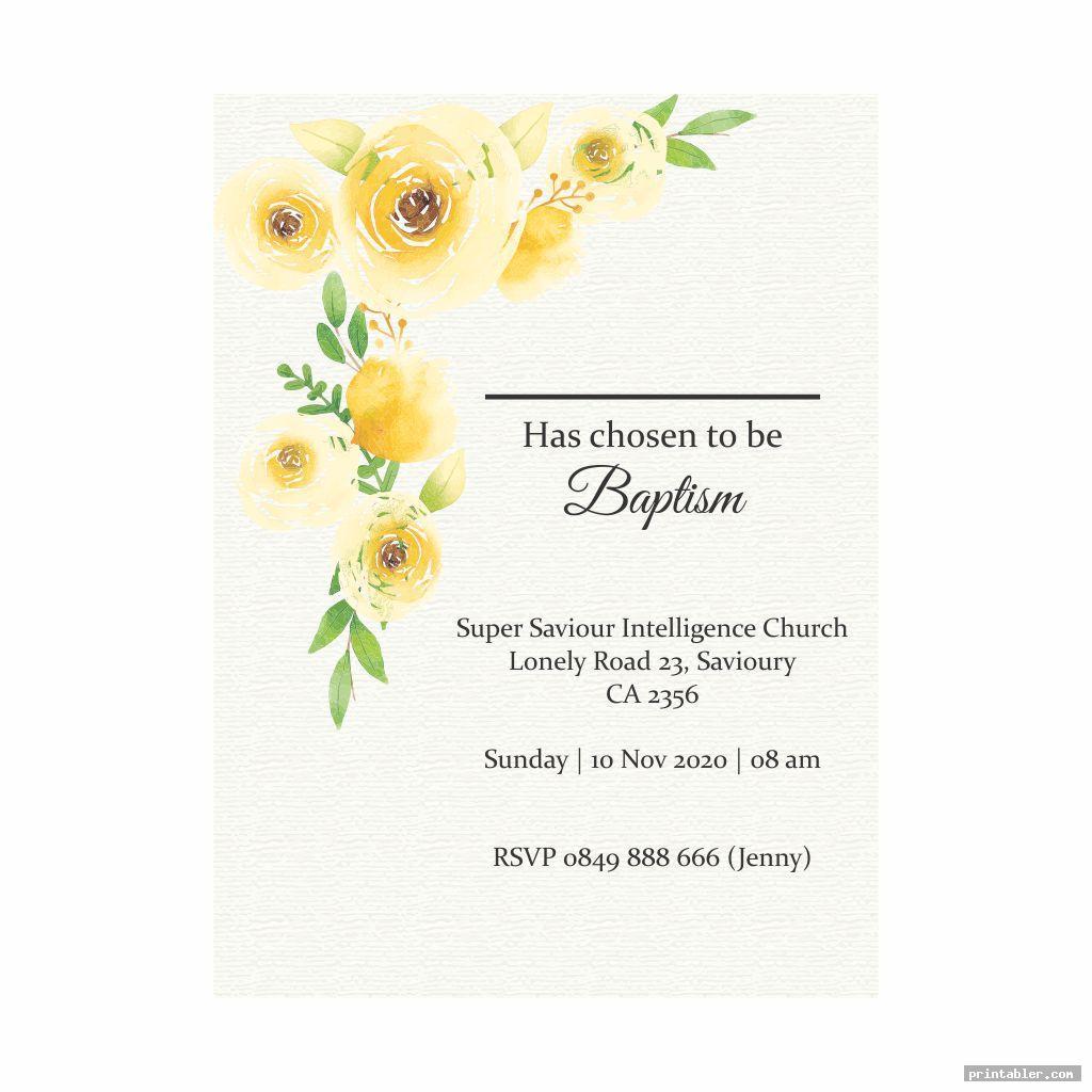 LDS Baptism Program Template Printable