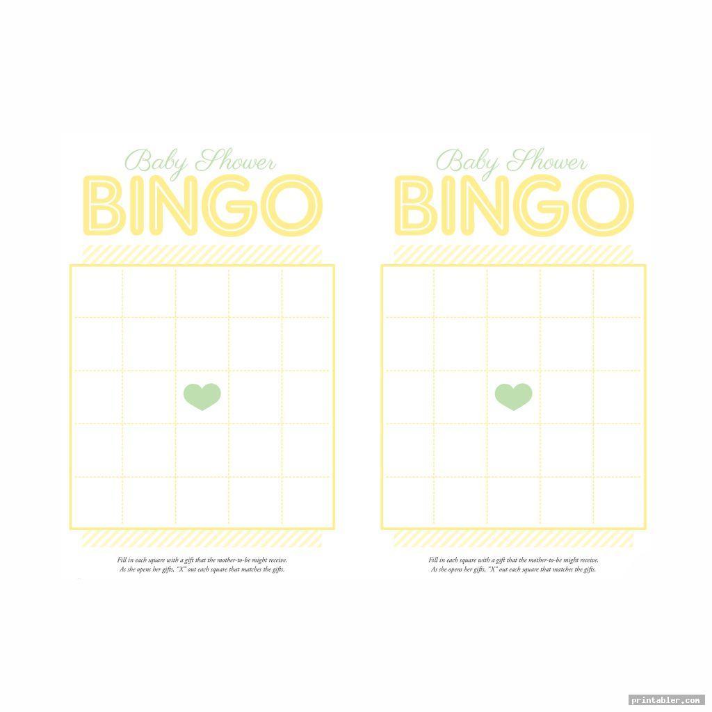 bingo baby pool game template printable free