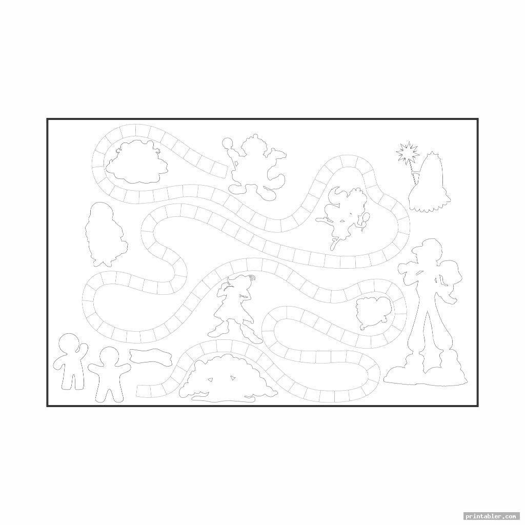 blank candyland board printable