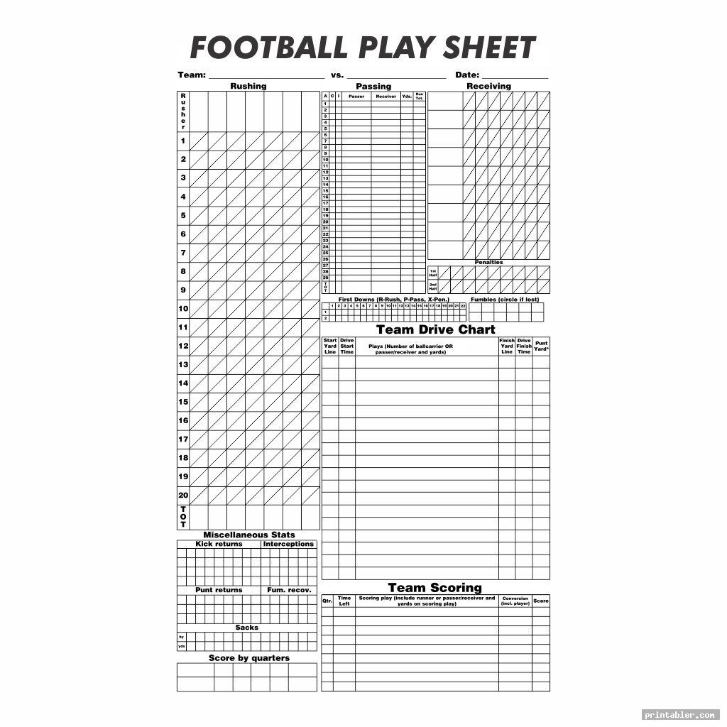 blank football play sheet printable image free