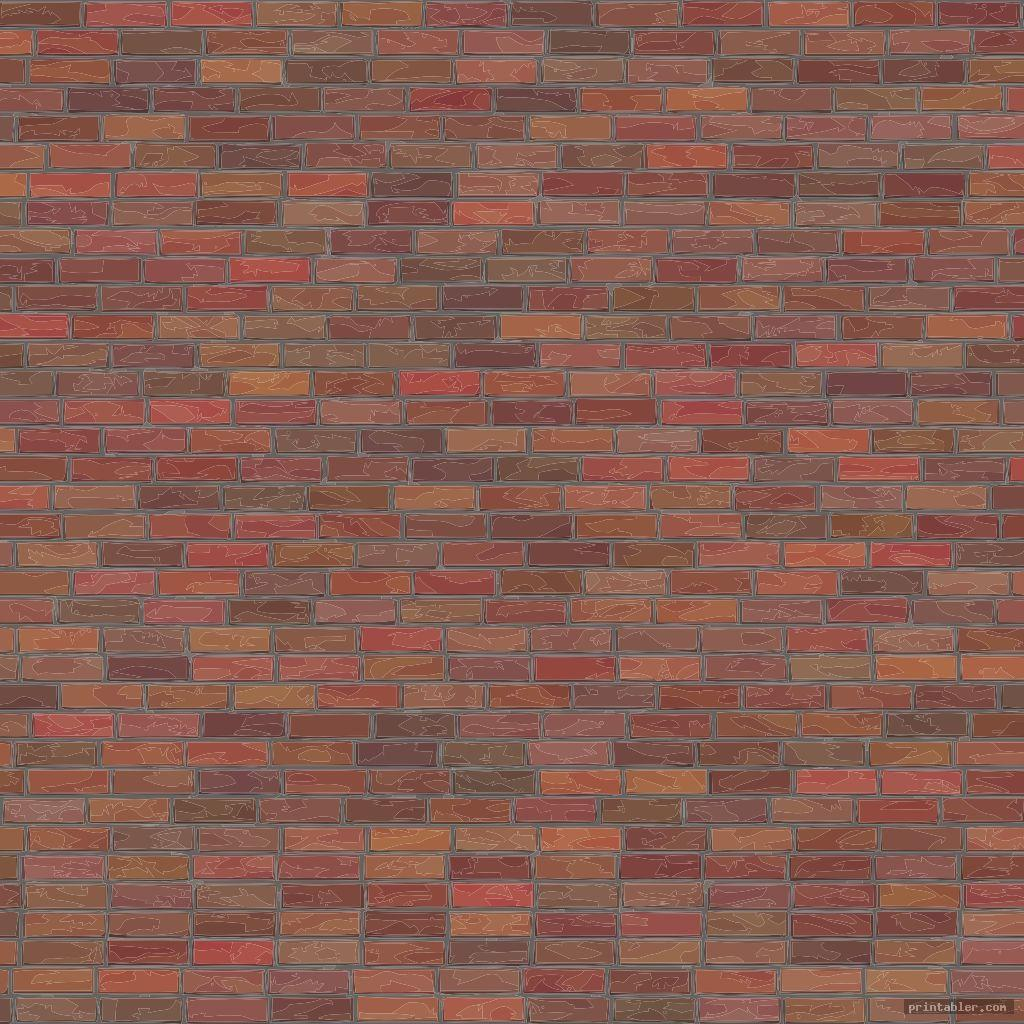 brick template printable image free