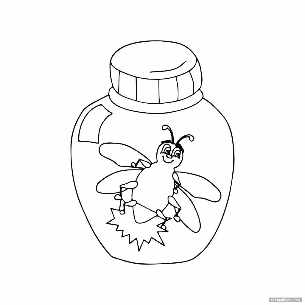 Bug Jar Coloring Page Printable & Clipart