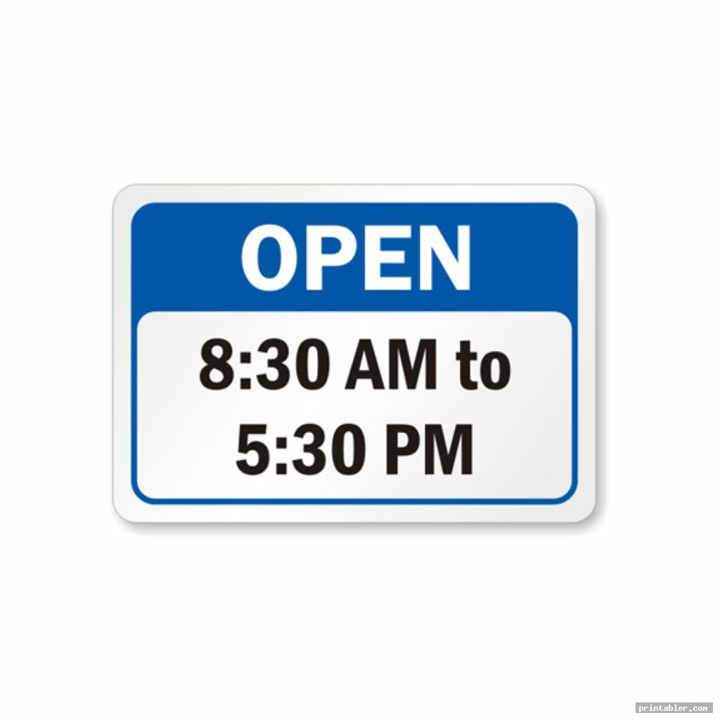 business hours sign printable image free