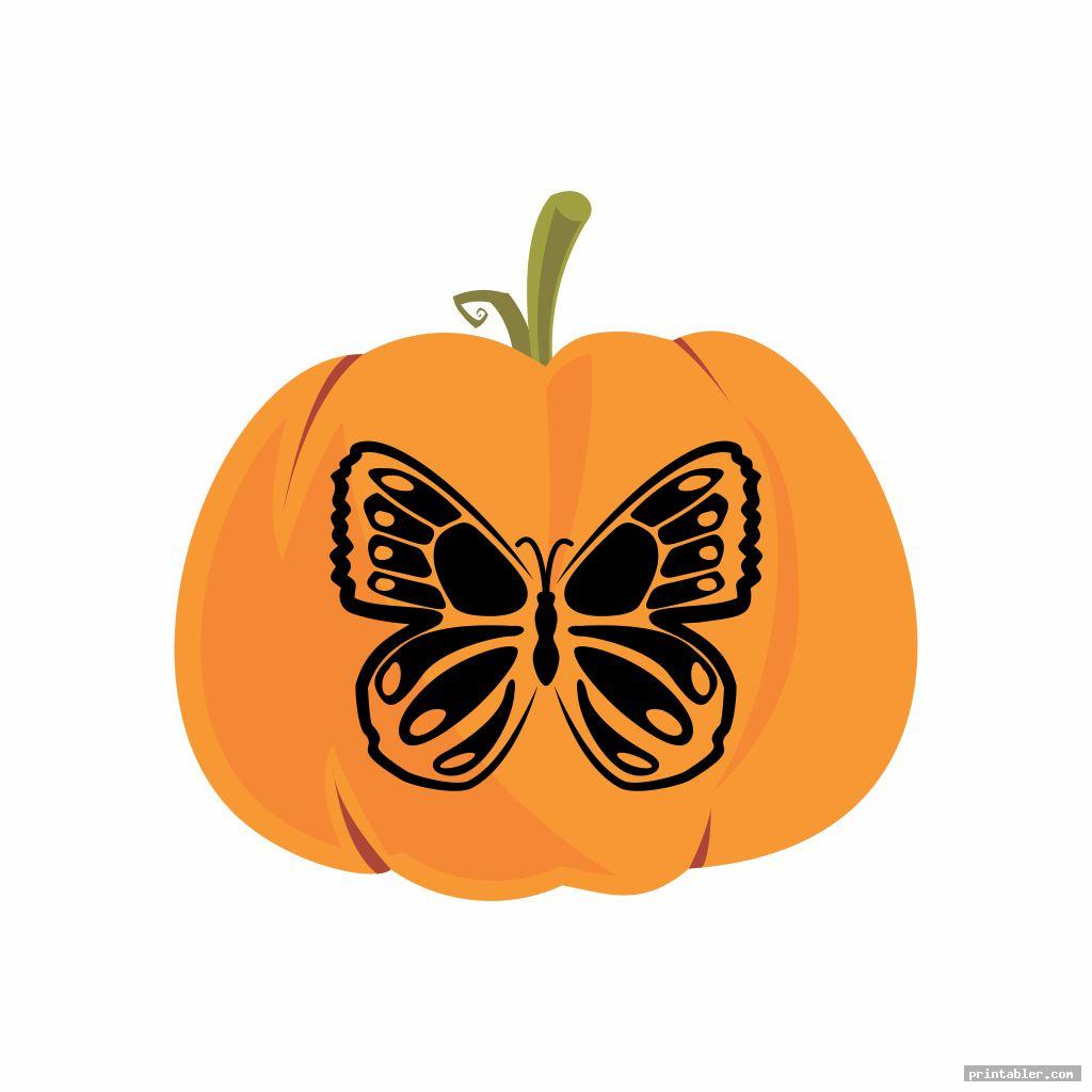 butterfly pumpkin template printable for use