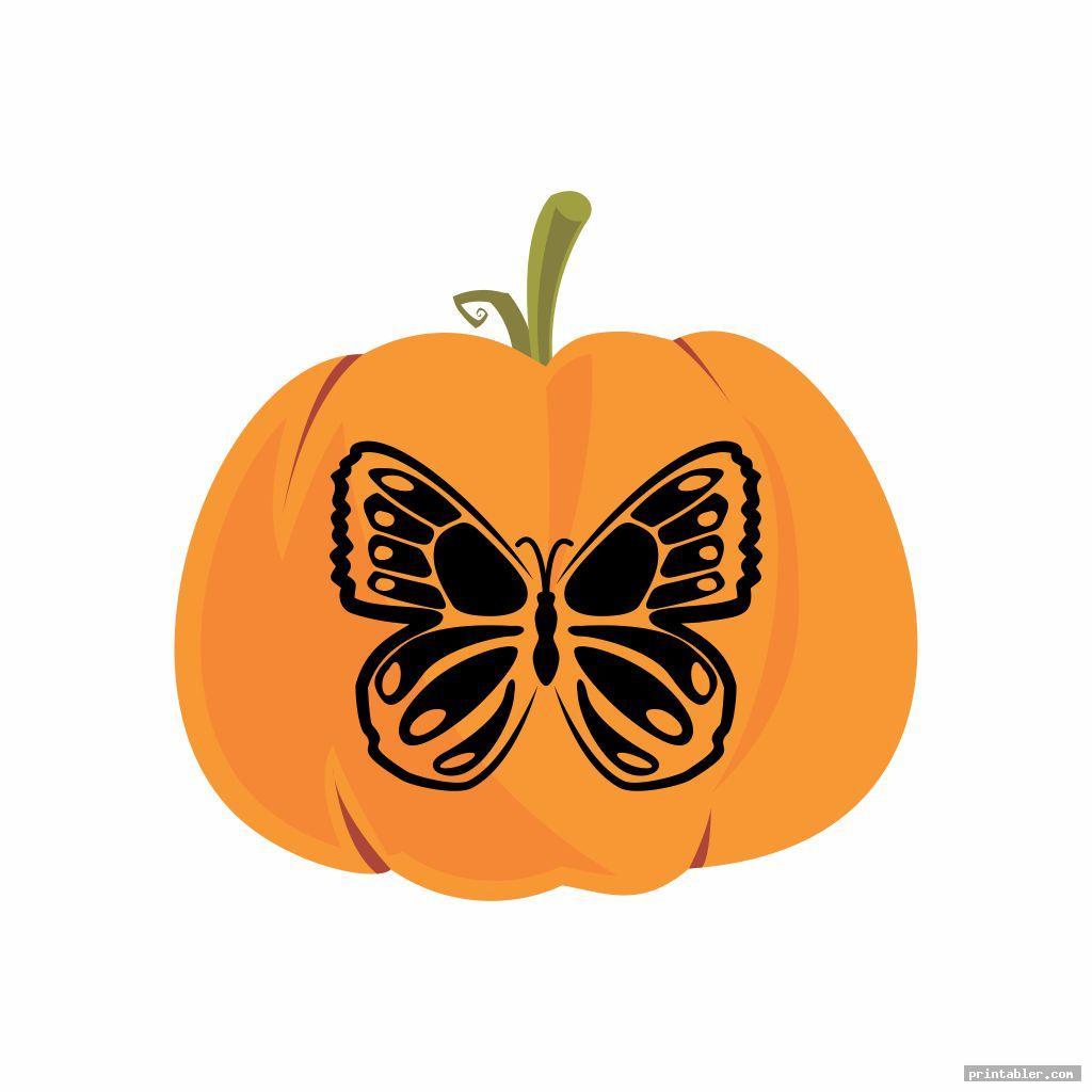 Butterfly Pumpkin Template Printable