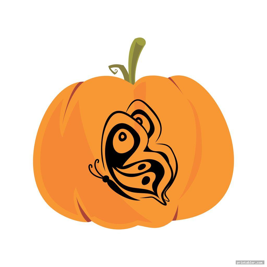 butterfly pumpkin template printable image free
