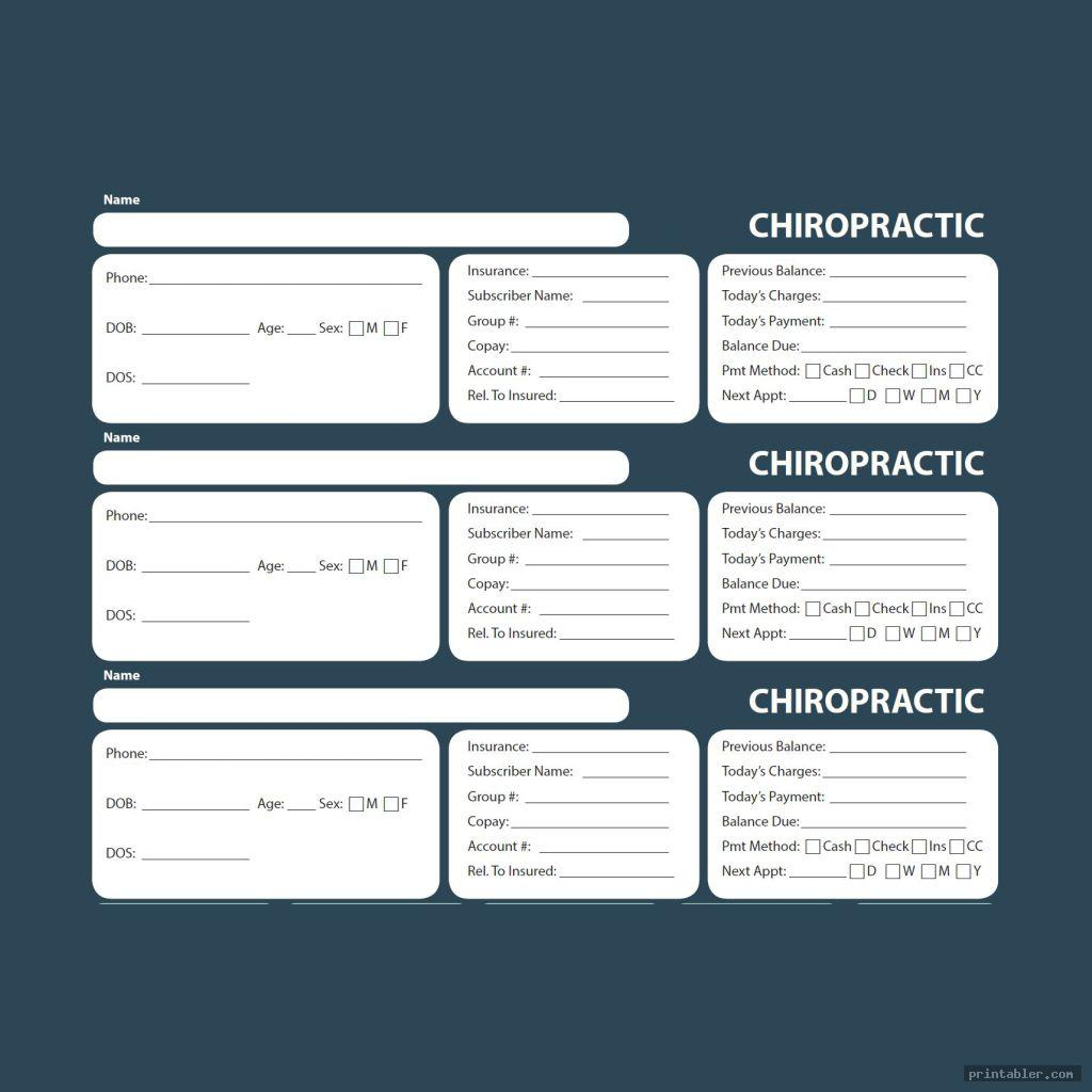 Chiropractic Superbill Template Printable