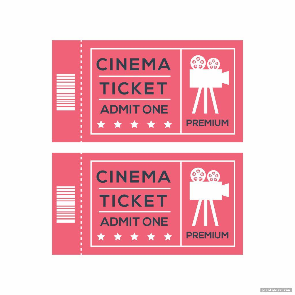 cinema admit one template printable