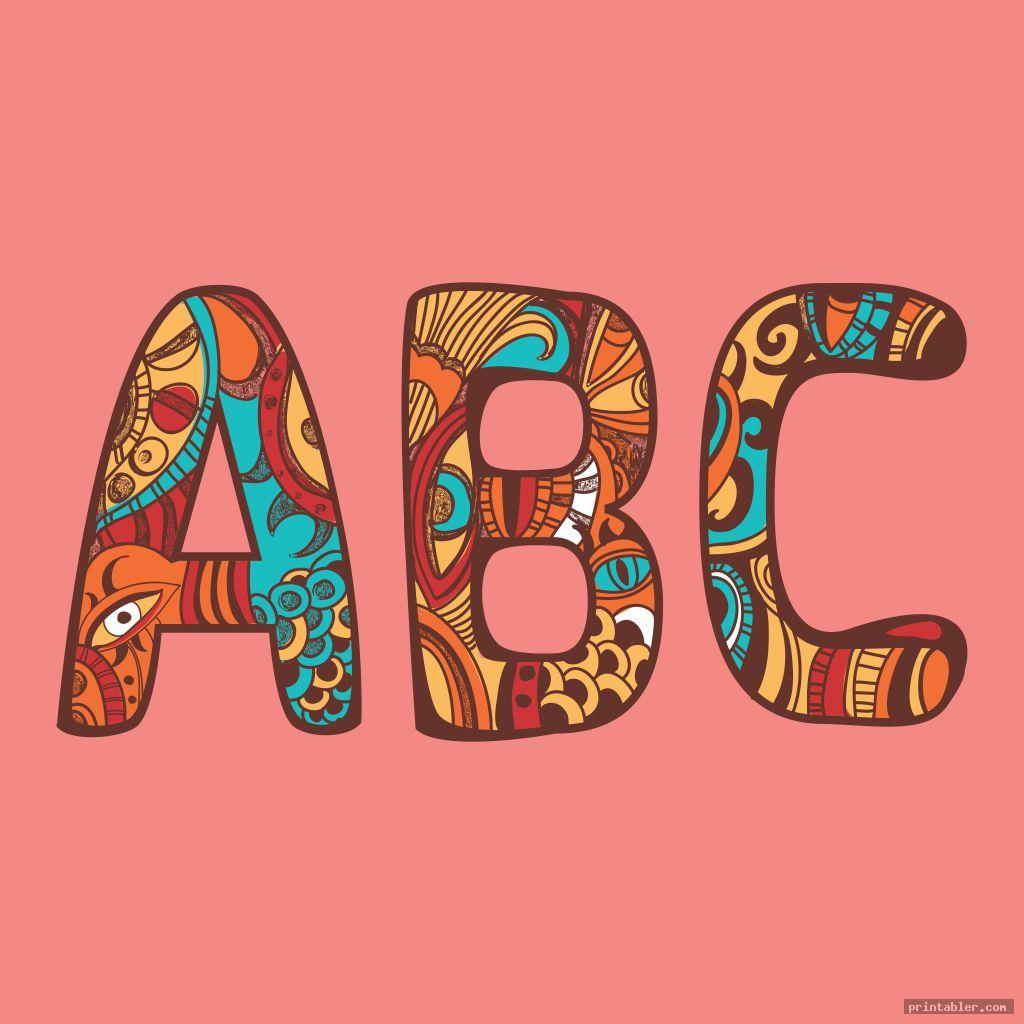 classic letters in nature printable