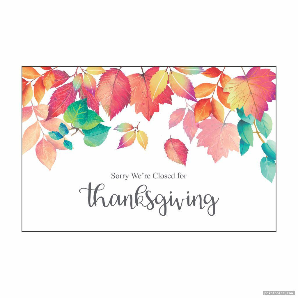 closed for thanksgiving sign printable image free