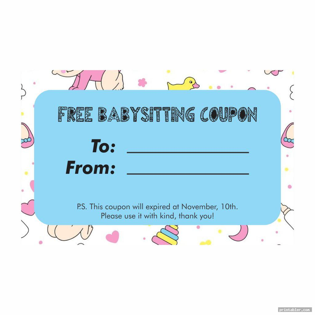 Babysitting Coupons Printable