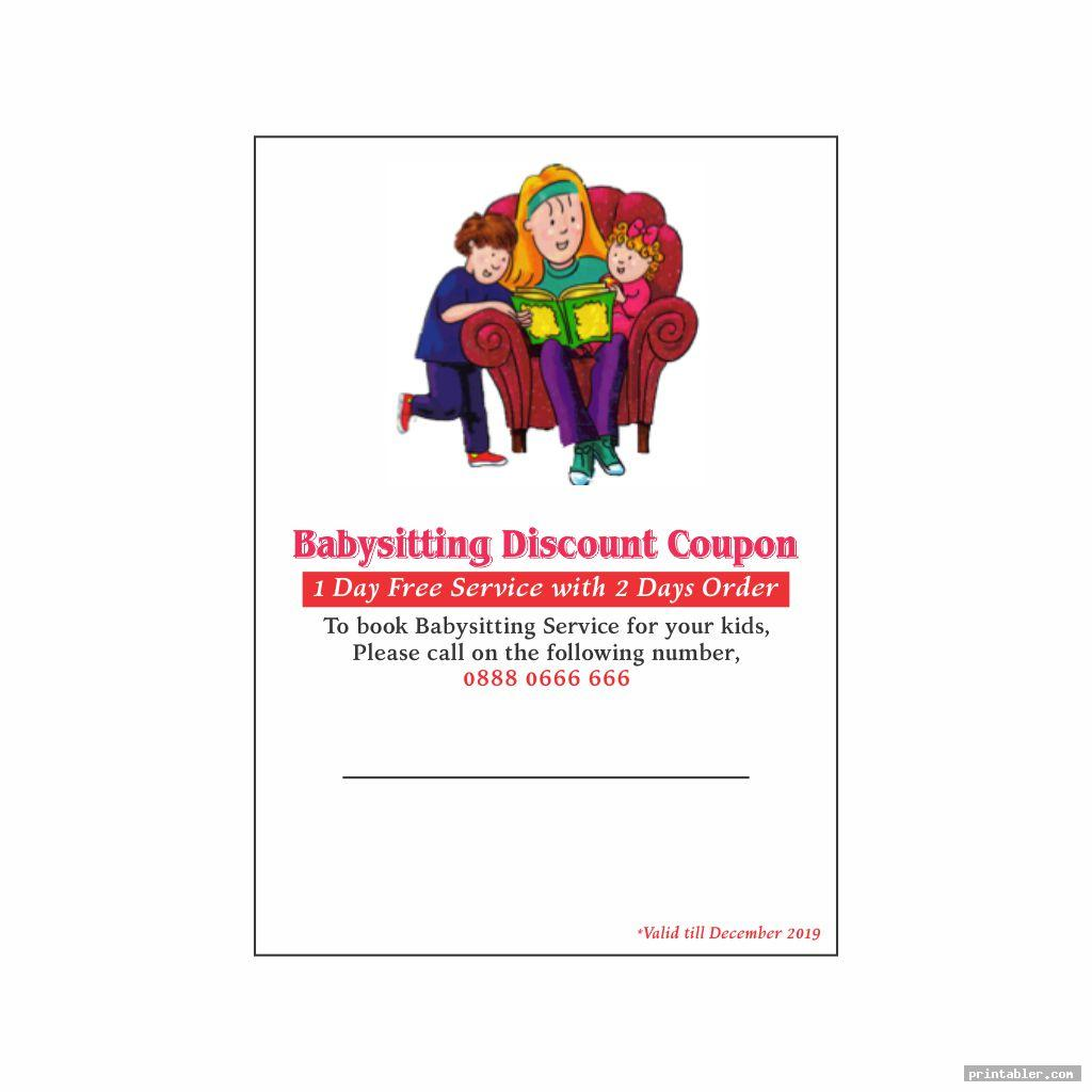 Babysitting Voucher Printable