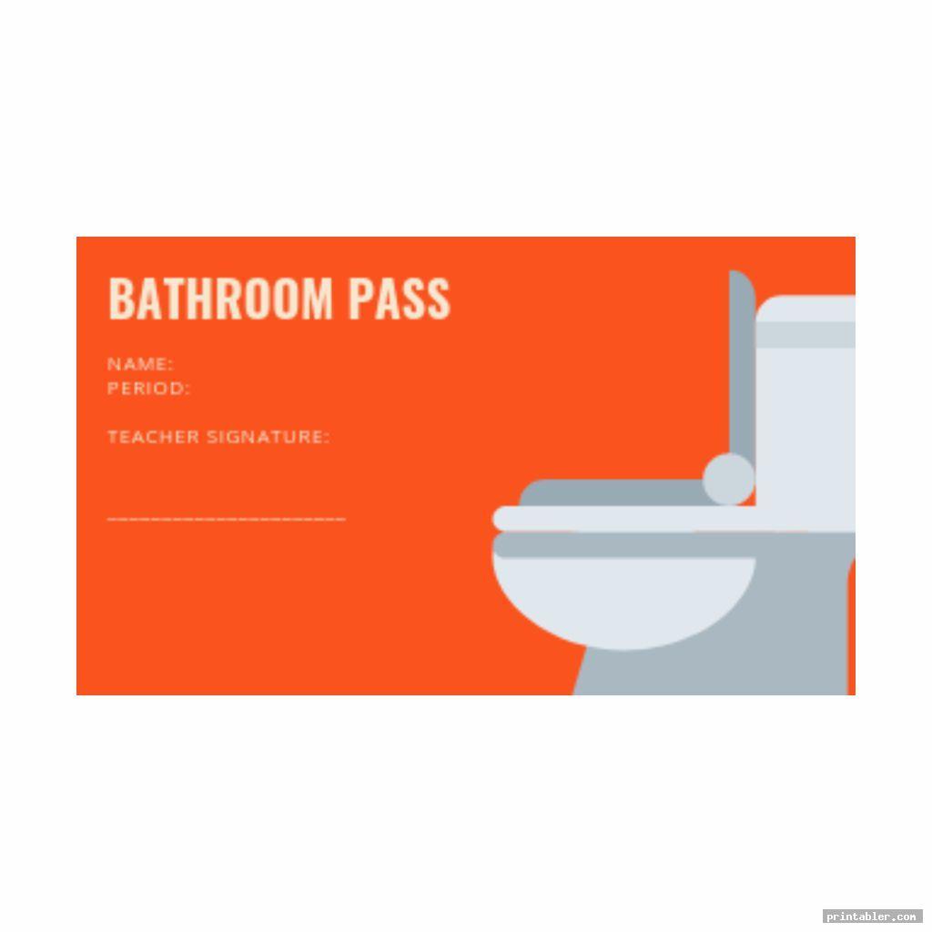 colorful bathroom passes template printable