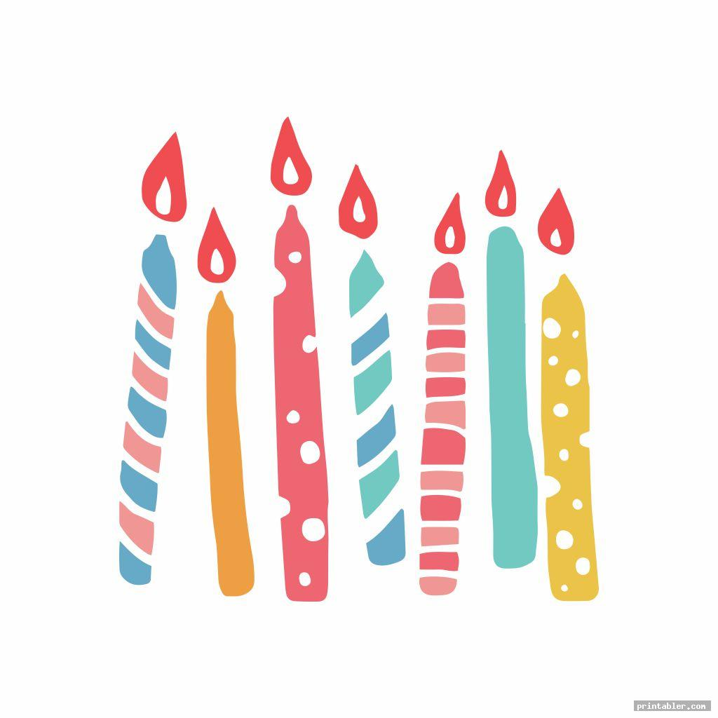 colorful birthday candle template printable