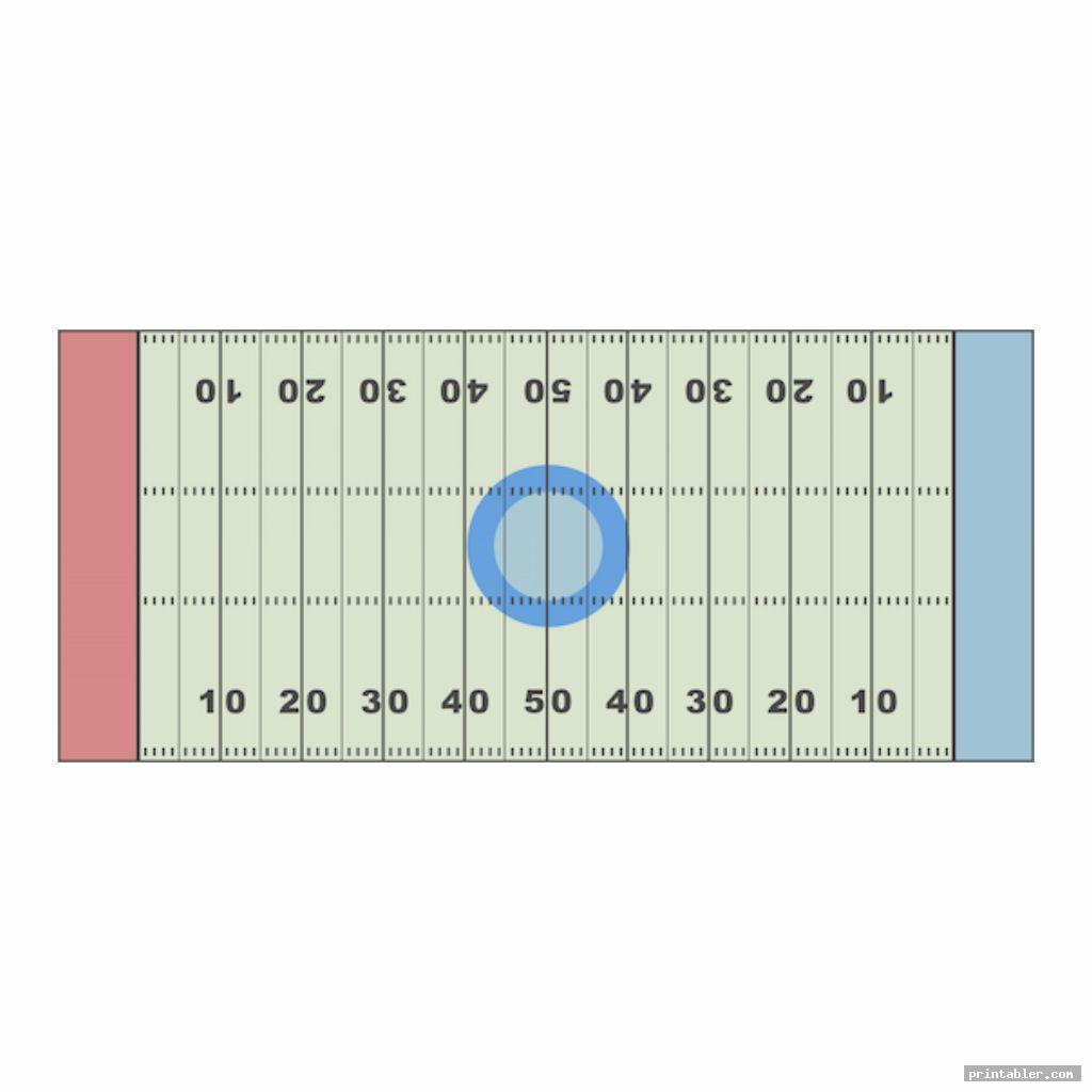 colorful blank football field diagram printable