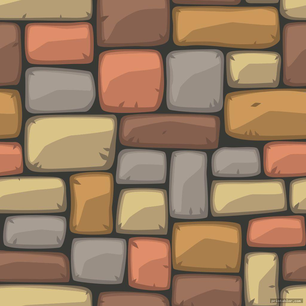 colorful brick template printable