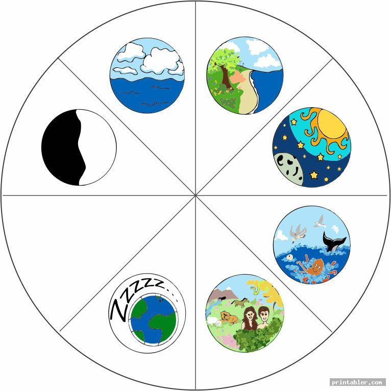 Creation Story Wheel Printable