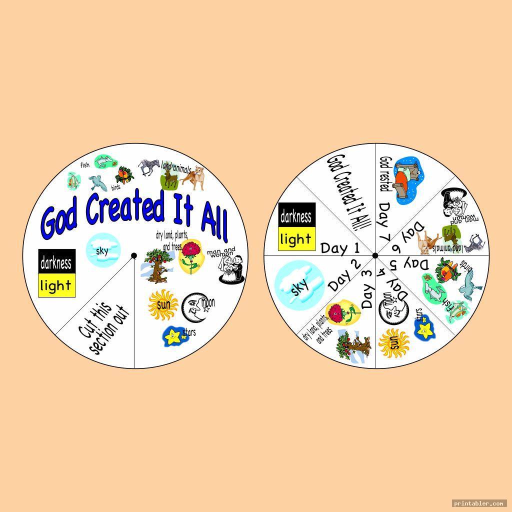 colorful creation wheel craft printable