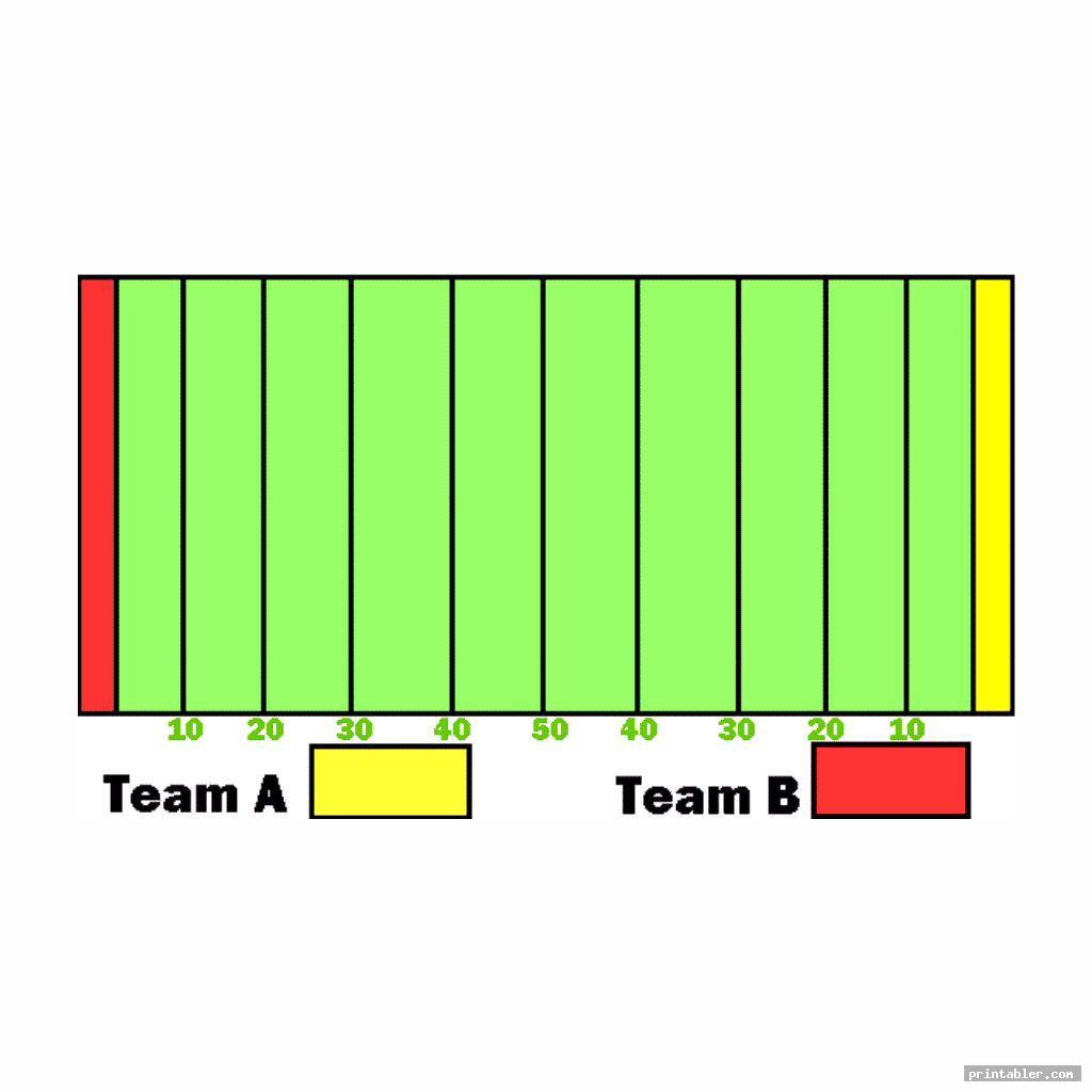colorful football field diagram printable