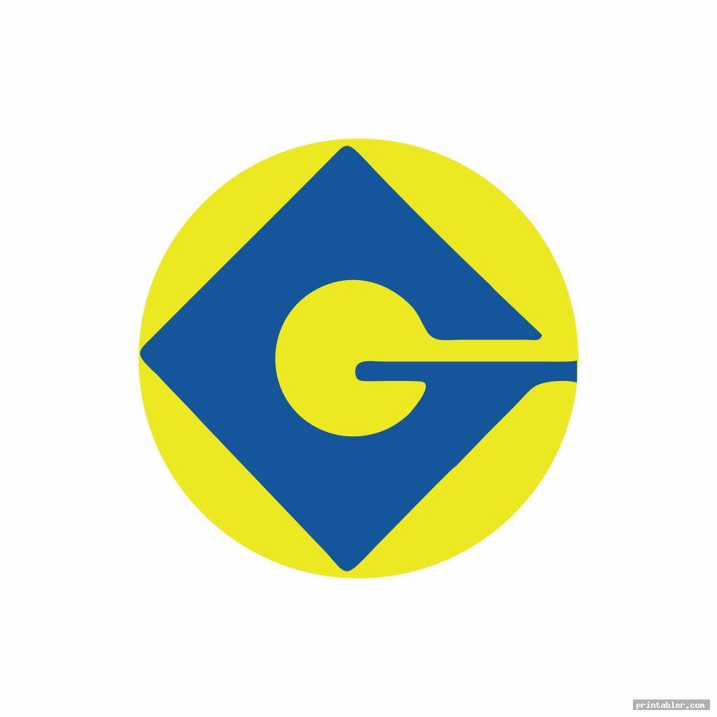 G Minion Logo Printable