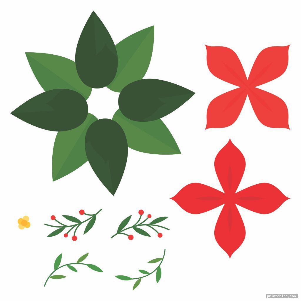 Poinsettia Template Printable