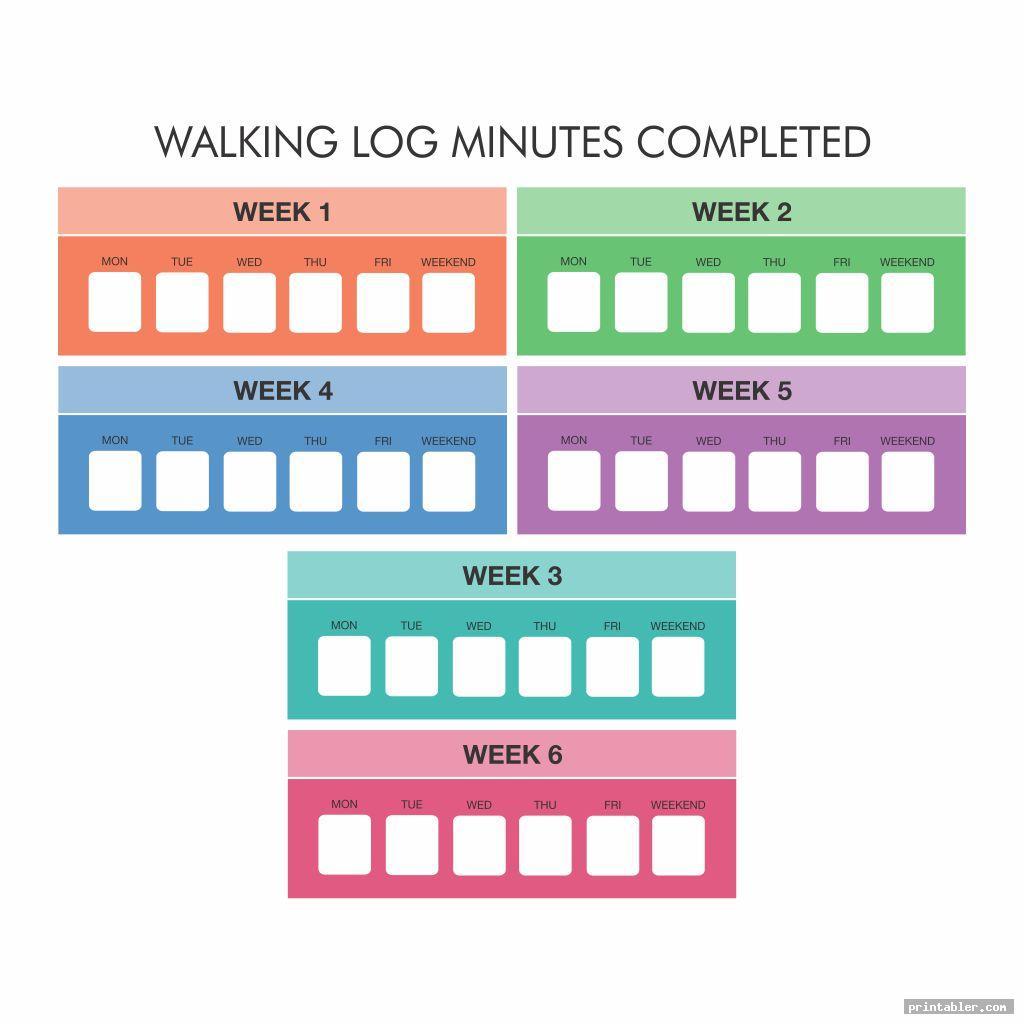 Walking Log Printable
