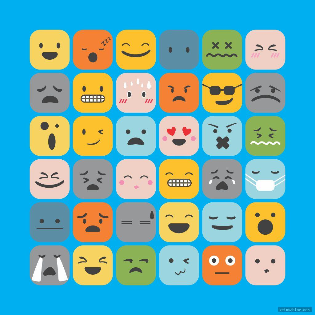 complete simple feelings chart printable