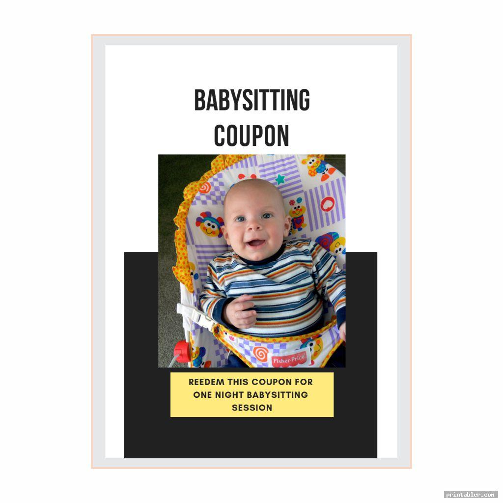 cool babysitting coupons printable