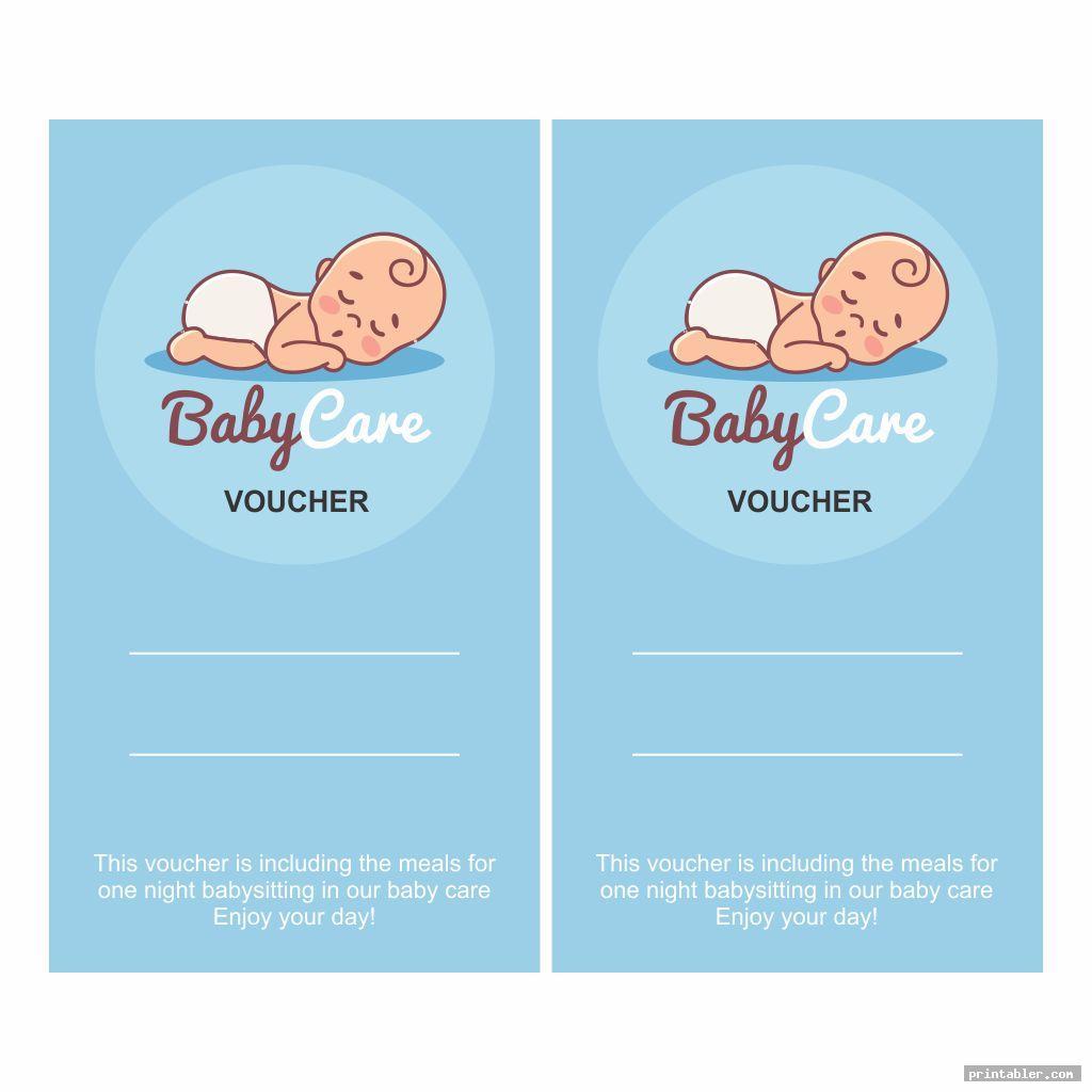 cool babysitting voucher template