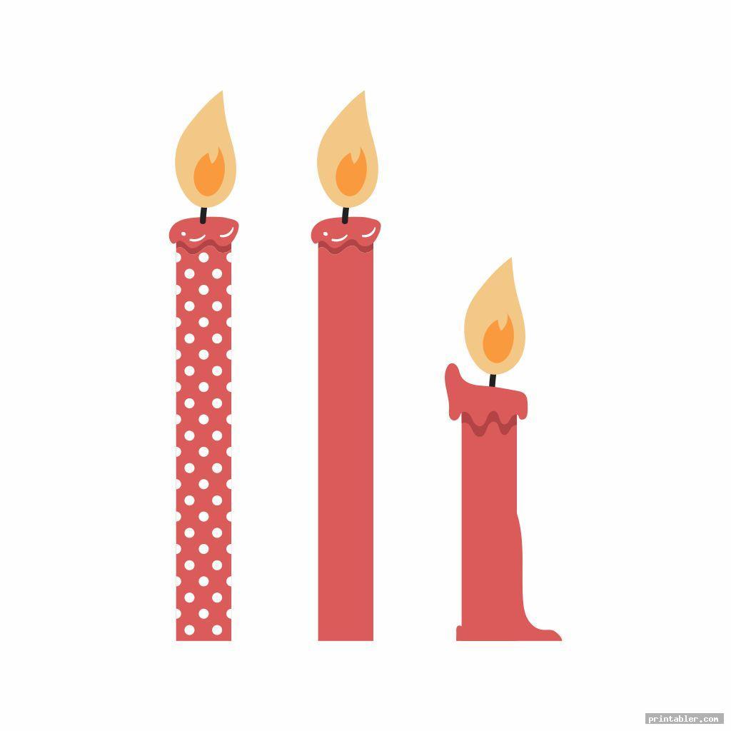 Cool Birthday Candle Template Printable