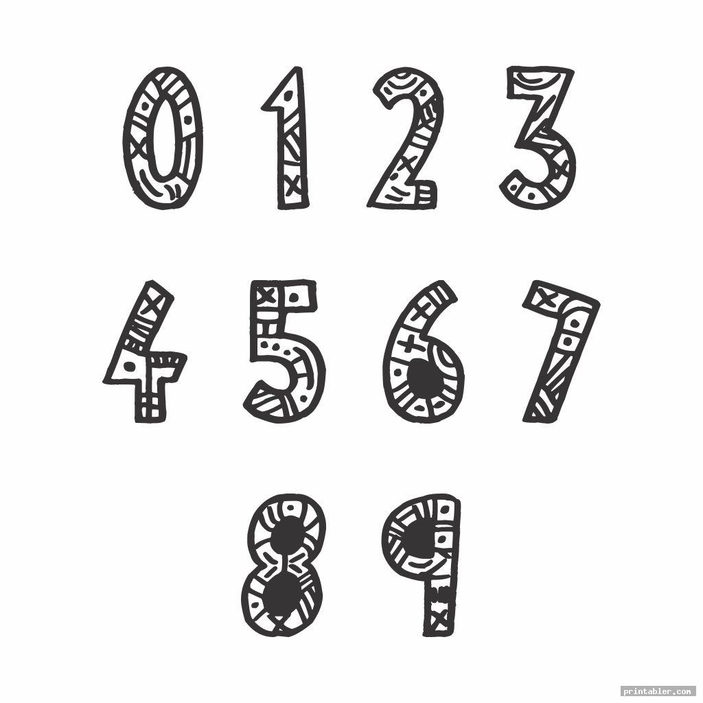 cool bubble numbers 1 10 printable