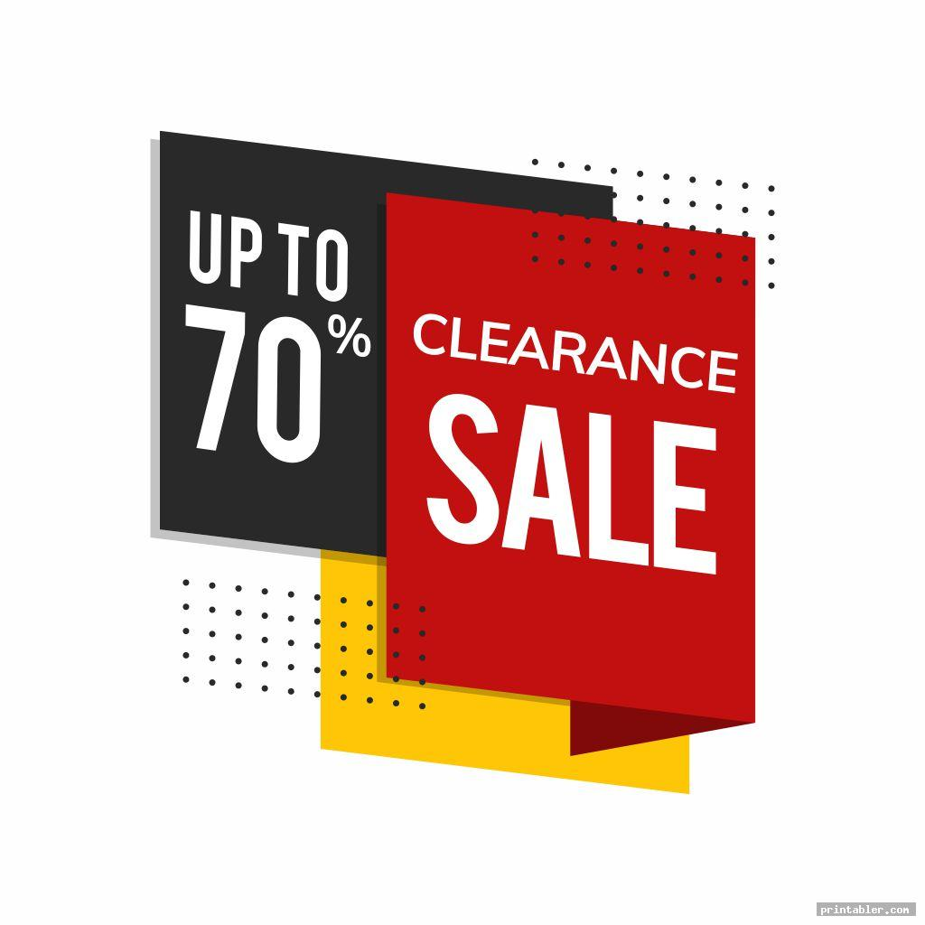 cool clearance sale signs printable
